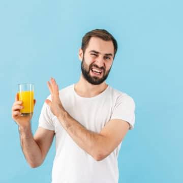 Man Disgusted by Orange Juice